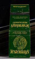 Rare Vintage Matchbook Cover K1 Rochester New York Yesterday's Restaurant Lady