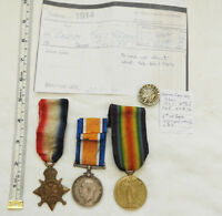 Military WW1 Mons Star Trio Medal Group With 2nd Highland Light Infantry (5064)