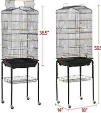 Used 64-inch Yaheetech Bird Cage Standing Bird Cage with Rollers (Local Pick up)