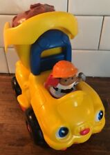 2005 Fisher Price Little People Lil Mover's Dump Truck Flagger Construction Dirt