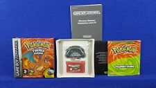 Gameboy Advance POKEMON Fire Red Version *x + Wireless Adapter COMPLETE PAL GBA