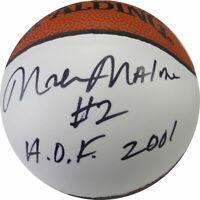Moses Malone Hand Signed Autographed Mini Basketball Philadelphia 76ers  JSA