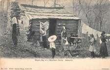 Asheville North Carolina Mountain Home Wash Day Vintage Postcard AA24070