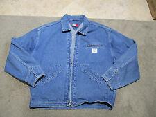 VINTAGE Tommy Hilfiger Jean Denim Jacket Adult Extra Large Blue Coat Zip Mens