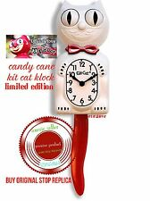 Candy Cane Red Limited Edition Kit-Cat Clock (15.5″ high) Oz Stock Perfect Gift