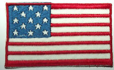 USA Flag Original Vintage 1980`s Small Embroidered Sew On Patch United States