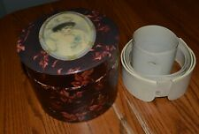 Gorgeous Victorian Woman with Large Hat Celluloid Collar Box with collars