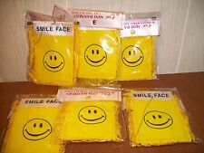 smiley face mini Banner Flag lot of 7 happy smile