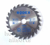 TCT Circular Saw Disc Blade + Adaptor Rings Aluminium Wood Ripping Cross Cutting