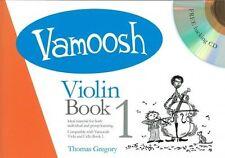 Vamoosh violín libro 1 Partituras + CD Aprender Principiantes Tutor método Fácil Nuevo