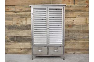 Vintage Industrial 2 Door 2 Drawer Cabinet