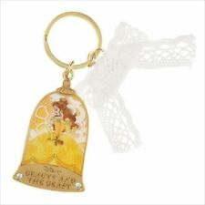 Disney Store Japan Beauty Beast Princess Belle Crystal Key Ring Chain Keychain
