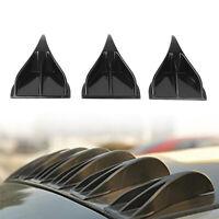 1X Vortex Generator Shark Fin Spoiler Wing Black Look Tail Line For Car R A9ES