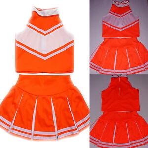 Little Girl Kids Children/Cheerleader/Uniform/Costume/Outfit Halloween Size 2-16