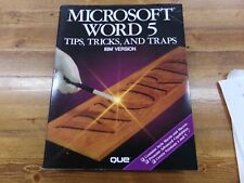 Microsoft Word 5 Tips, Tricks, and Traps IBM Version by Que ~ Book