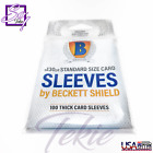 Внешний вид - Beckett Shield Thick Soft Card Sleeves Pack of 100 Sleeves 130pt Cards Clear