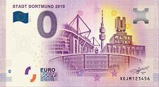 Billets Euro Schein Souvenir Touristique 2019 Stadt Dortmund