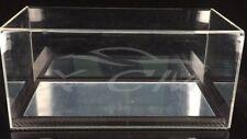Car Model Transparent Display Show Case Carbon Fiber Mirror Like Base 1:18 Black