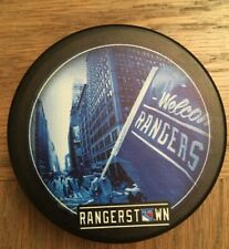 NY RANGERS HOCKEY PUCK WELCOME TO RANGERSTOWN NHL LIMITED EDITION MSG NYC