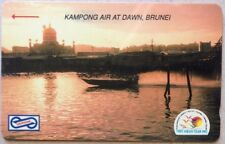 Malaysia Used Phone Cards - Kampong Air At Dawn, Brunei