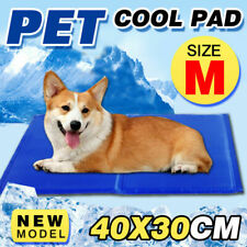 Cooling Cool Water Gel Mat Summer Pad Non-Toxic for Pet Dog Cat Sofa Bed 40x30cm