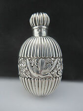 Stunning Antique Sampson Mordan Sterling Silver Perfume Scent Bottle 1888