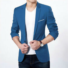 Men's Slim Fit One Button Suit Blazer Business Leisure Work Coat Jacket Outwear
