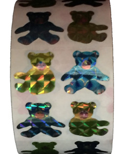 "400 Teddy Bear Stickers in a roll of 100 modules (2""x2""),each sticker 1"", RP6102"