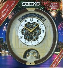 New Seiko Special Edition Melodies in Motion Wall Clock with Swarovski Crystals!