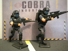 GI JOE ~ SET OF TWO  2002 PURPLE COBRA VIPERS ~ 100% complete officer the enemy