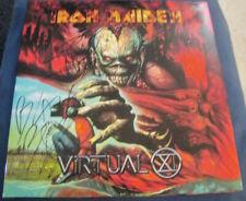 Blaze Bayley Steve Harris Iron Maiden Virtual X Rock auto Vinyl © 2015 w/COA