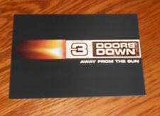 3 Doors Down Away From the Sun Postcard Original 2002 Promo 7x5