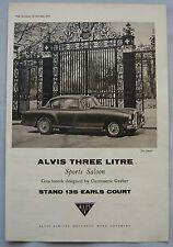 1957 Alvis 3-litre Original advert