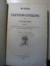 Diccionario valenciano castellano jose escrig 1851 primera edicion