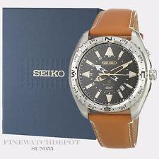 Authentic Seiko Men's Prospex Chronograph Leather Strap Watch SUN055