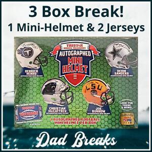 CHICAGO BEARS TriStar autographed/signed Mini-Helmet + 2 Jerseys: 3 BOX BREAK!