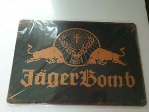 Jagermeister JagerBomb Metal Sign Plaque Man Cave Garage Pub Bar Retro Shed