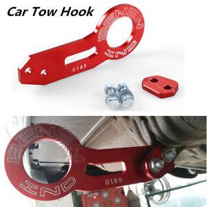 Universal Car Rear Tow Hook Ring CNC Aluminum Alloy Racing Towing Bar Portable