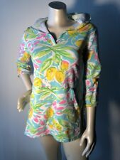 Barbara Gerwit Tunic S Blue/Pink/green/white terry lined hoody beach cover Bin-R