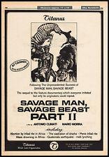 SAVAGE MAN SAVAGE BEAST 2__Original 1976 Cannes Trade AD_poster__SAVANA VIOLENTA