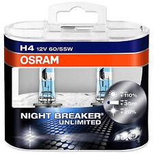OSRAM NIGHT BREAKER UNLIMITED PLUS 110% Plus De Lumière H4 Voiture Ampoules 64193NBU-HCB