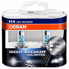 OSRAM NIGHT BREAKER UNLIMITED + 110% più luce H4 LAMPADINE AUTO 64193nbu-hcb