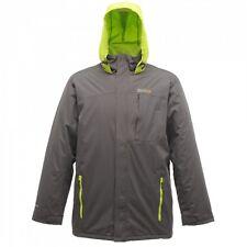Regatta Harriman Mens Waterproof Hooded Padded Insulated Jacket Grey Size XXXL