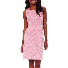 Black Label by Evan-Picone Sleeveless Jacquard Sheath Dress, Size: 14,Soft Rose