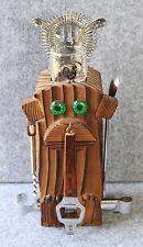 """Vintage Wooden Monkey Bar Cocktail Set Japan 9"""" Teak Wood Great For A Tiki Bar!"""