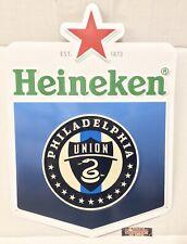"Heineken Philadelphia Union Mls Soccer Metal Beer Sign 24x17"" Brand New In Box!"