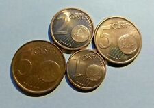 Netherlands  Portugal  - SET of Euro Coins 2001- 2002  - 1 2 5 Cent  Gem UNC