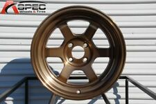 15x9 Rota GRID V 4x100 +0 Full Royal Sport Bronze Rims New Set
