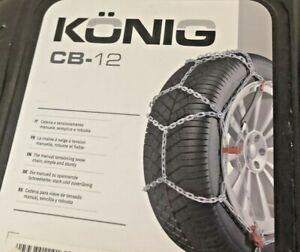 KÖNIG CB-12 Snow Chain Set of 2, Car, Tyre, Mechanic