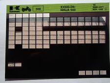 Kawasaki Ex500 D6 Ninja 500 Parts Microfiche 1999 99961-0471